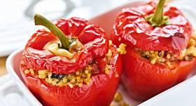 Ar kuskusu pildītas paprikas recepte