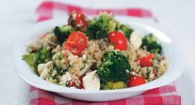 Bulgura, fetas un brokoļu salāti receptes