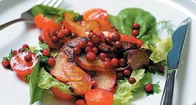 Siltie vistu aknu salāti recepte