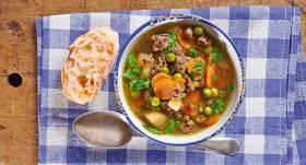 Ātrā zupa ar malto gaļu recepte