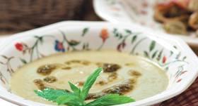 Aukstā zupa ar cūku pupām recepte