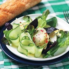 Vasaras zaļie salāti recepte