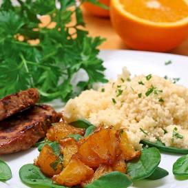 Cūkgaļa apelsīnos recepte
