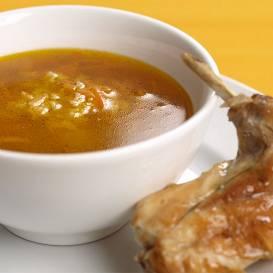 Truša gaļas buljons ar rīsiem recepte