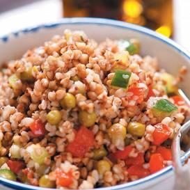 Griķu salāti recepte