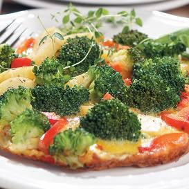 Omlete ar brokoļiem recepte