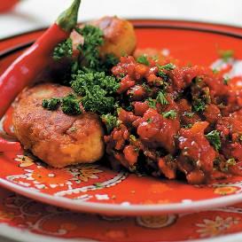 Lēcu kotletes tomātu mērcē recepte