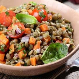 Lēcu salāti atslodzei recepte