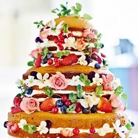 Vasaras kāzu torte