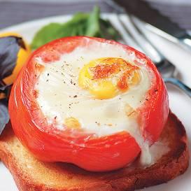 Tomātā cepta ola recepte