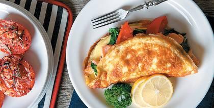 Pildīta omlete recepte