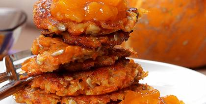 Dārzeņu pankūkas ar sēkliņām recepte