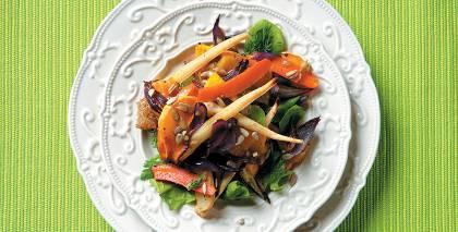 Medainie <strong>ziemas dārzeņu salāti</strong>
