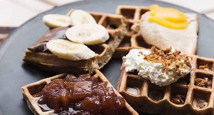 Vafeles Mākonis vēlās brokastis bančs Pērle žurnāls