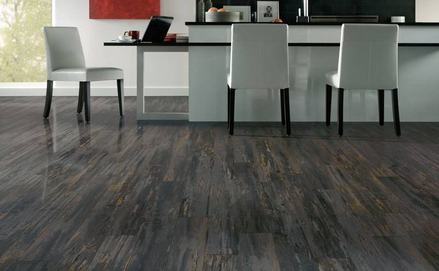 The appearance of the laminate floor is determined during manufacturing when the top surface is cured under heat. From this point on it is a closed cell surface that is robust and resists any type of surface alterations. It cannot be waxed, oiled, polished, sanded or alternated in anyway.