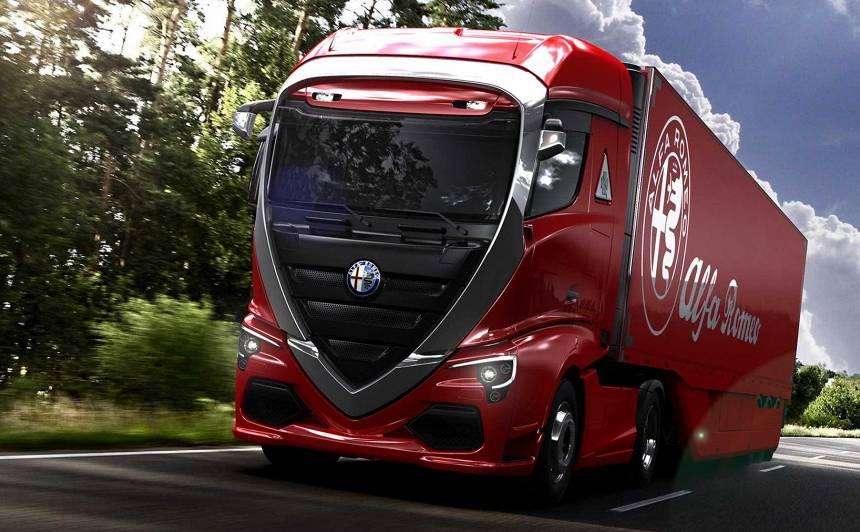 Alfa Romeo kravas auto — <strong>skaistākais komerctransports</strong>, kāds redzēts<br />
