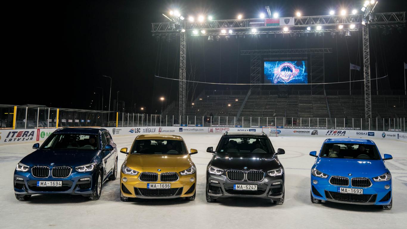 <strong>Iespaidīgākie un spožākie</strong> BMW automašīnu uznācieni ziemas sezonā (VIDEO)