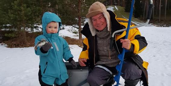 Aivars Lembergs ar jaunāko dēlu Artūru 2018. gadā