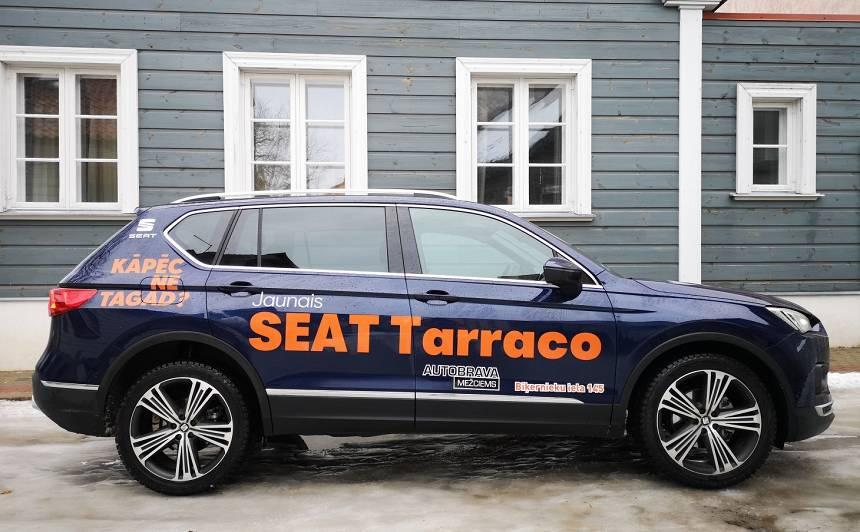 <strong>Seat Tarraco</strong> pirmais testa brauciens