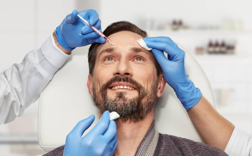 Estētiskās injekcijas palīdz iegūt <strong>vīrišķīgu seju</strong>