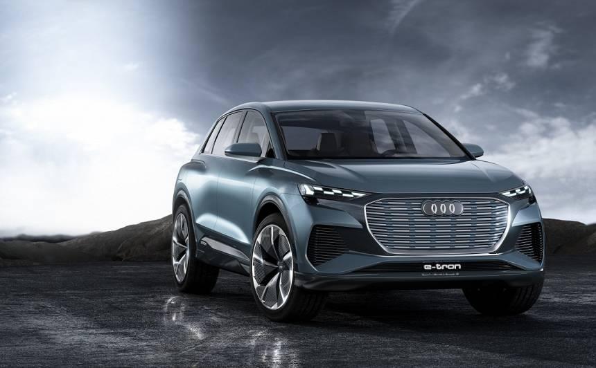 Ženēvas autoizstādē prezentēts <strong>Audi Q4 e-tron</strong> konceptauto