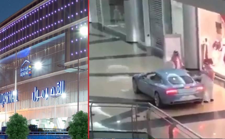 VIDEO: Vīrietis <strong>iznomā lielveikalu,</strong> lai dotos iepirkties ar <em>Aston Martin</em>