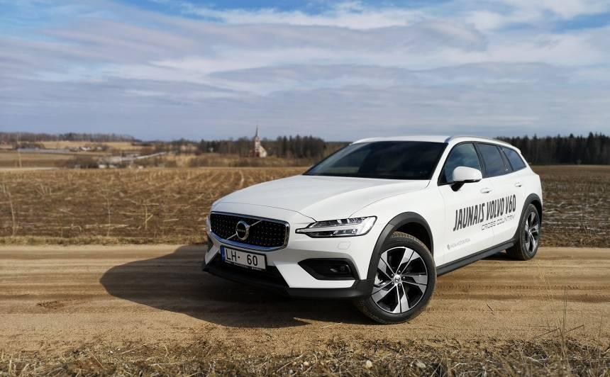 <strong><em>Volvo V60 Cross Country</em></strong> pirmais testa brauciens