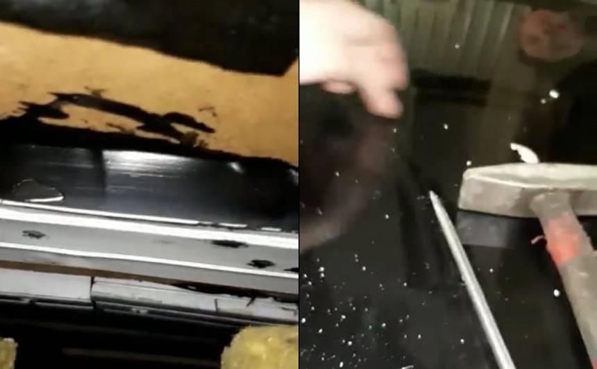 <strong>VIDEO: Jumts no preskartona</strong> — servisā atklāj, ka VW jumtā vairs nav metāla