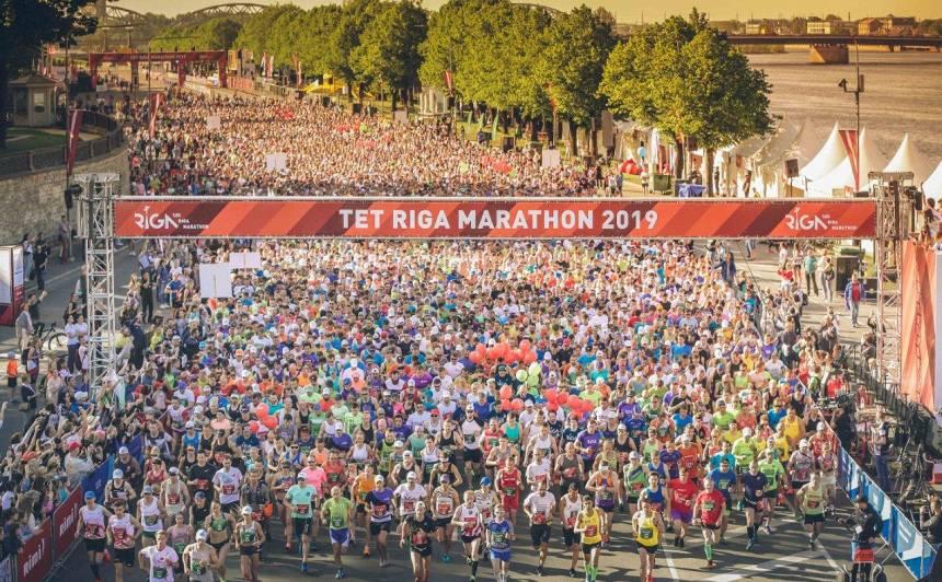 <em>Tet Rīgas maratona</em> distanci šogad pieveikuši vairāk nekā <strong>38 tūkstoši skrējēju no 82 pasaules valstīm</strong>