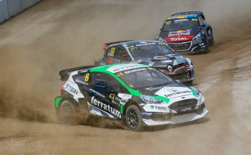 <strong>Jānis Baumanis</strong> dramatiskā cīņā finišē piektais <em>WorldRX</em> posmā leģendārajā Spa trasē