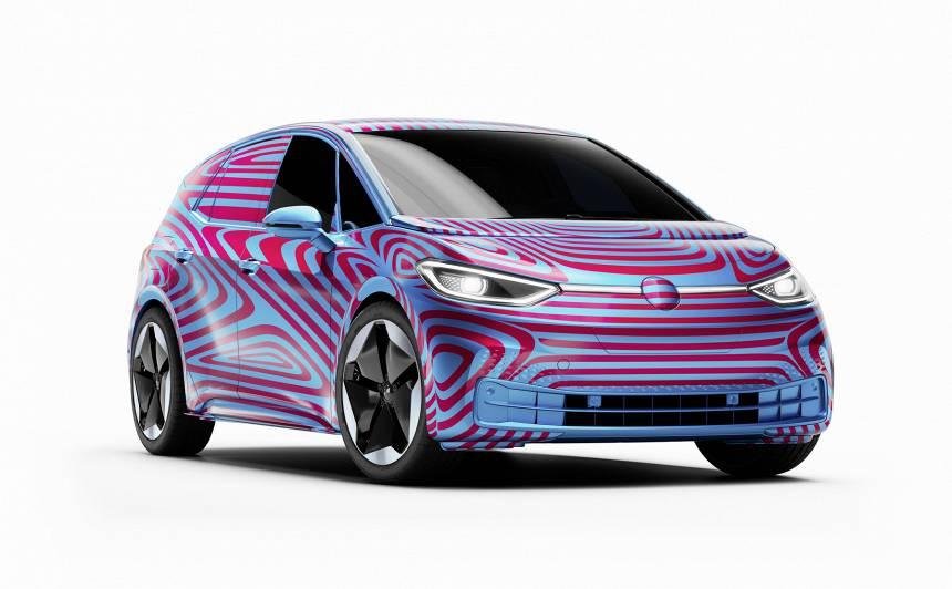 <em>Volkswagen</em> uzsācis jaunā <strong><em>ID.3.</em> elektroauto</strong> rezervēšanu