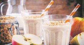 <strong>Auzu pārslu smūtijs</strong> veselīgām brokastīm