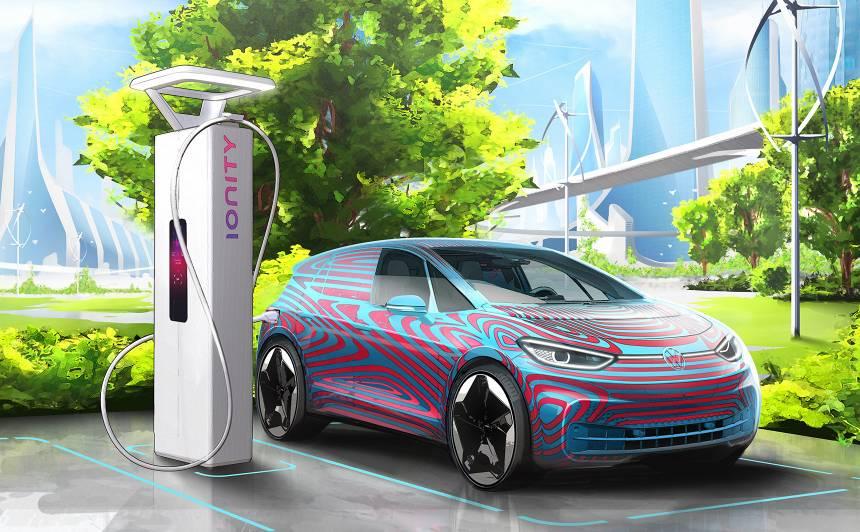 <strong><em>Volkswagen</em> Latvijā</strong> būvēs uzlādes stacijas elektriskajām automašīnām