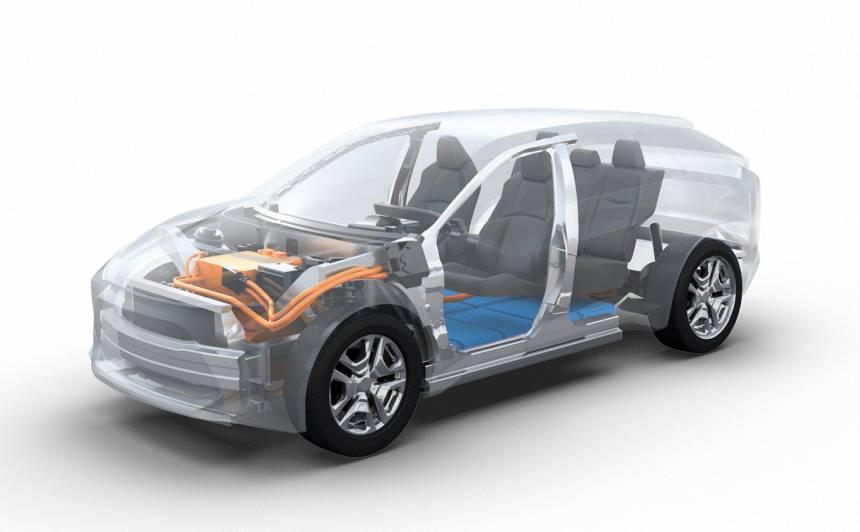 <em>Subaru</em> radījis <strong>elektrisko SUV</strong>, kas izmantos cietvielu akumulatoru