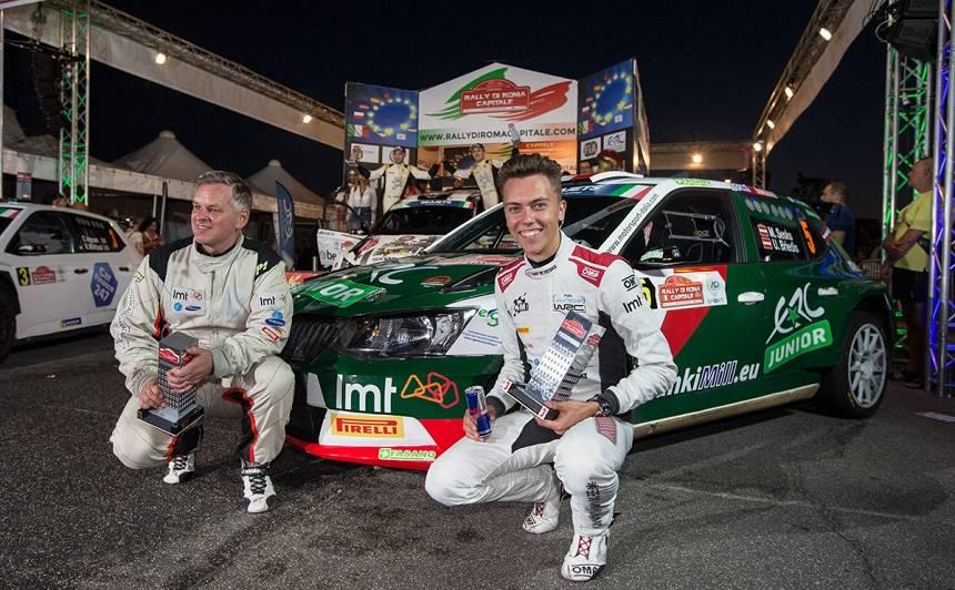 <strong>Mārtiņš Sesks</strong> Eiropas rallija sezonu noslēdz ar 3. vietu Romā