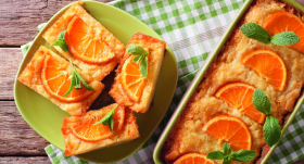 Dienvidu saules iedvesmota apelsīnu kūka