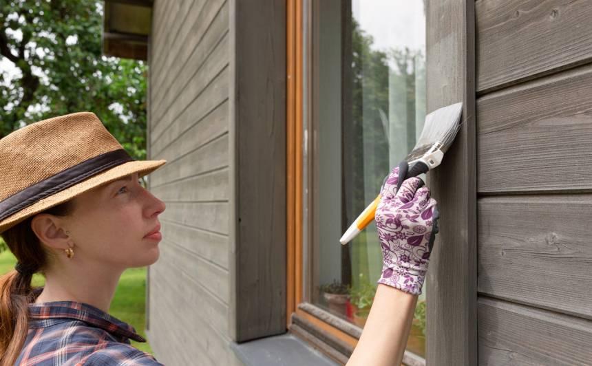 <strong>Ir krāsošanas gadalaiks!</strong> <em>Uzprišinām</em> māju gan iekšā, gan no ārpuses