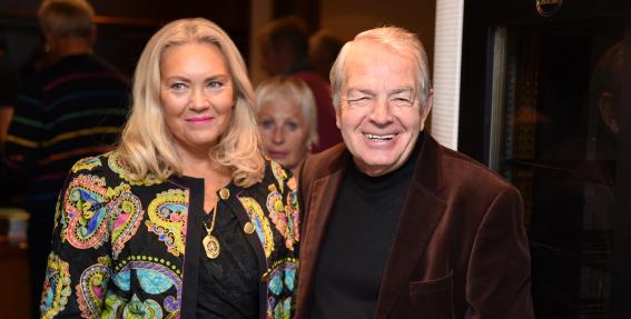 Imants Skrastiņš ar dzīvesbiedri Ritu Trenci
