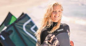 <strong>Ance Krauze — </strong> kaitsērfinga jeb ūdens pūķa savaldzināta