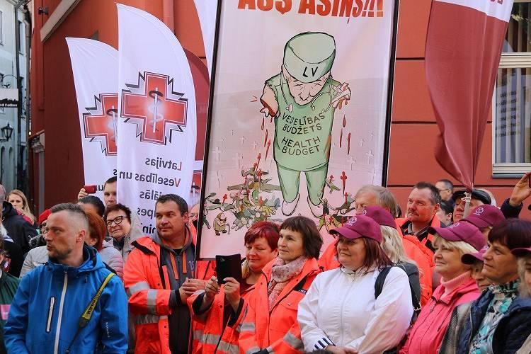 Mediķu arodbiedrība <strong>rīkos plašas protesta akcijas</strong>