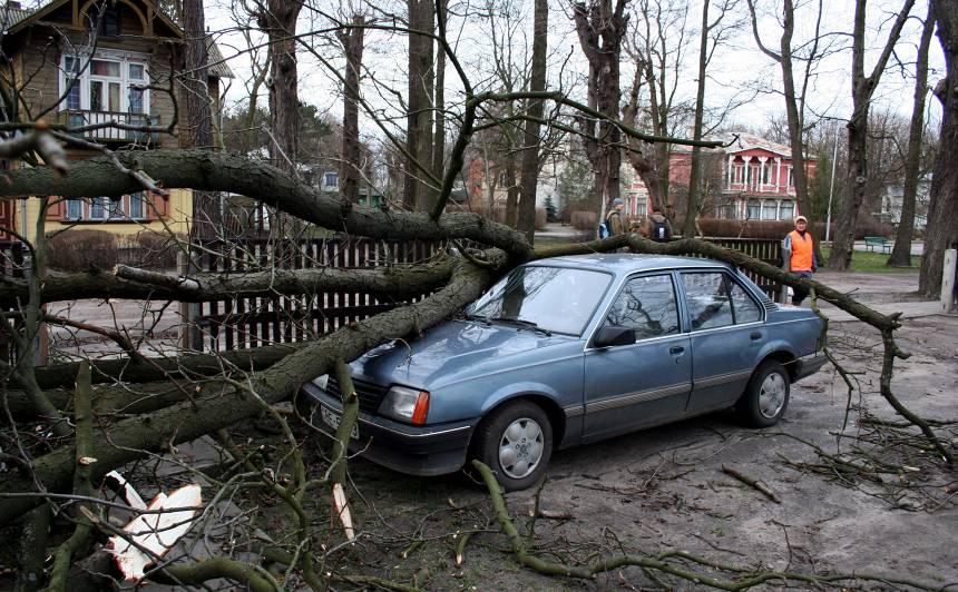 VIDEO: <strong>Spēcīgās vētras postījumos cietuši daudz auto</strong>