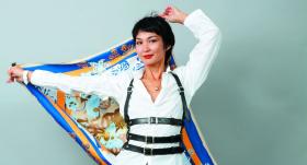 Stilistes Gulbahitas Barinovas <strong>turbānu siešanas meistarklase</strong>