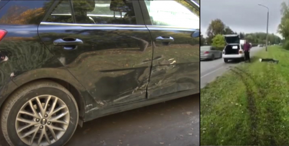 Jelgavā agresīvs šoferis dzenas pakaļ un <strong>apzināti izraisa avāriju</strong>