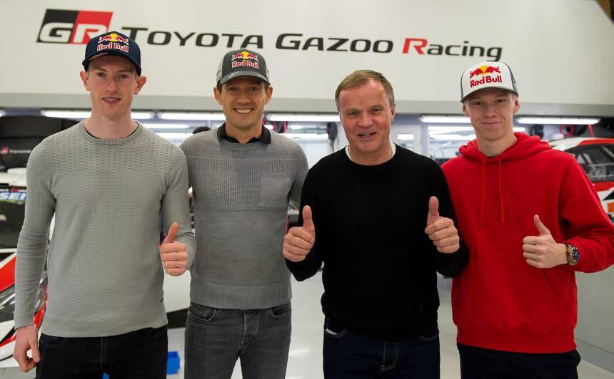 <strong>Latvijas rallija čempions Kalle Rovanpera</strong> kļūst par Ožjēra pārinieku <em>Toyota</em> WRC komandā