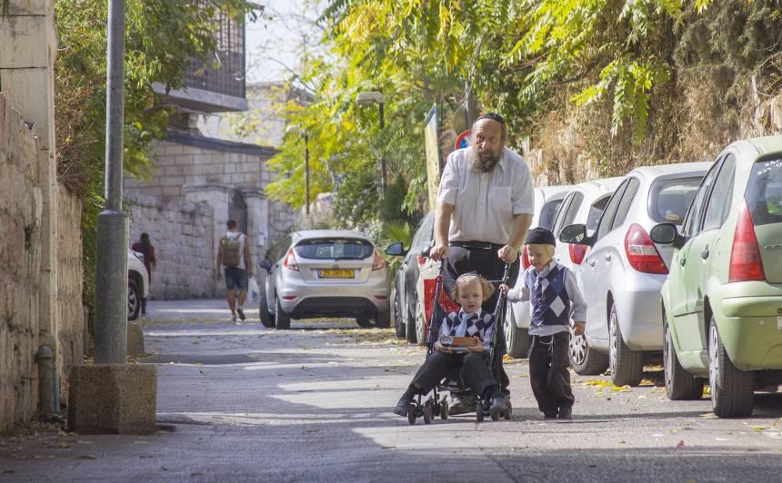 Jeruzālemes ieliņa pusdienlaikā.