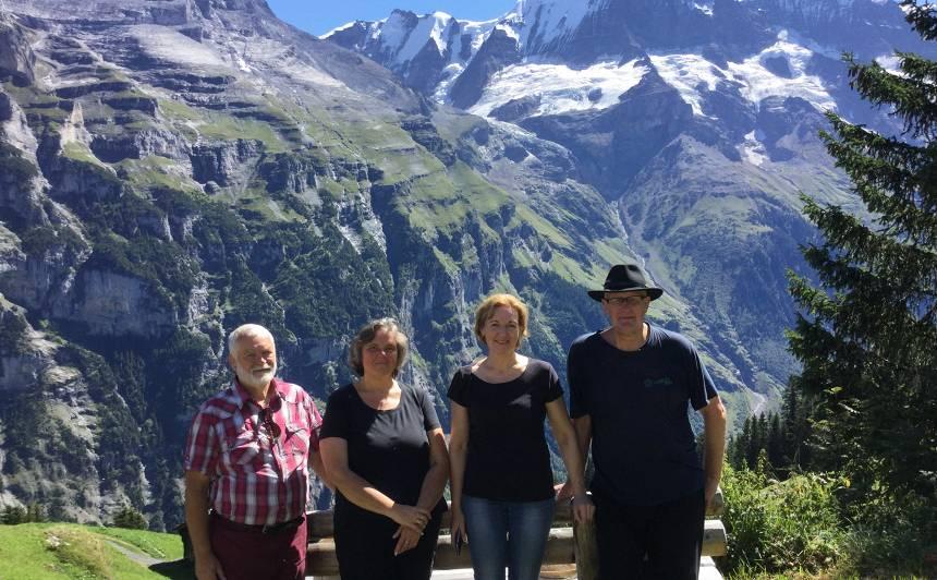 FOTO: <strong>Jāņa Paukštello</strong> neaizmirstamās brīvdienas Šveicē