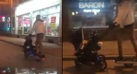 <strong>Vīrietis lielā ātrumā traucas uz elektrodēļa, stumjot bērnu ratiņus;</strong> policija sāk personas meklēšanu