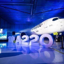 Īpašā pasākumā prezentē 21. <strong><em>airBaltic Airbus A220–300</em> lidmašīnu ar jaunu krāsojumu</strong>