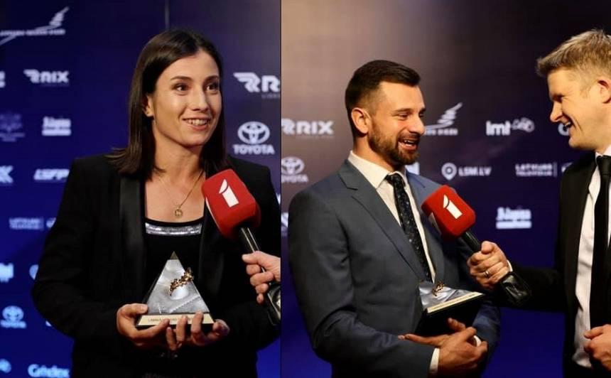 <strong>Sevastova un Dukurs</strong> atzīti par 2019.gada Latvijas labākajiem sportistiem