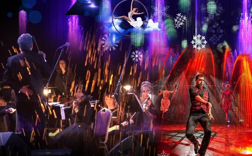 Pirmo reizi Rīgā – lielākais Eiropā muzikālo ūdens strūklaku šovs no Francijas ar orķestri un <em>lidojošo tango</em> iekštelpās!